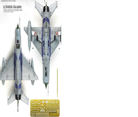 Maquette Academy 12224 MIG 21MF Polish Air force