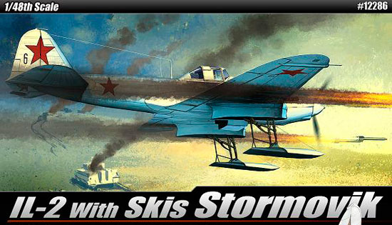 Maquette Academy 12286 IL-2 Stormovik + skis