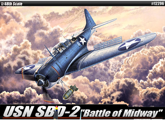 Maquette Academy 12296 USN SBD-2 1/48