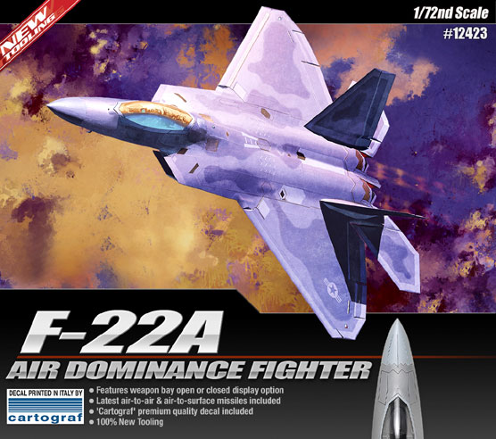 Maquette Academy 12423 F-22A Air DominanceFighter1/72