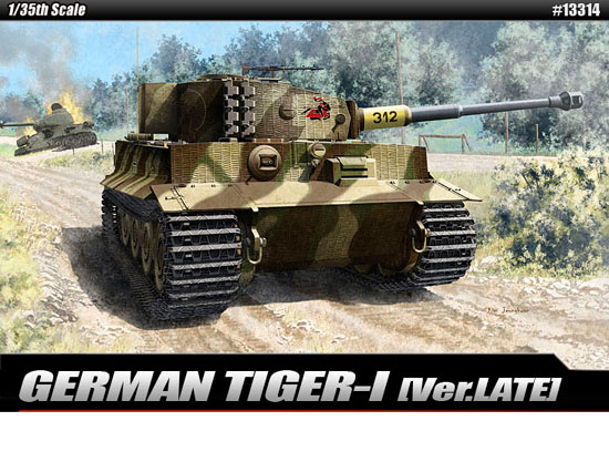Maquette Academy 13314 German TIGER I Late