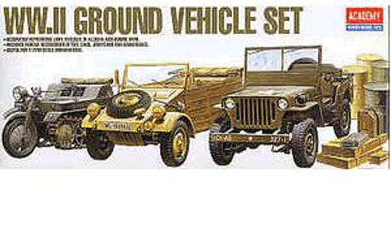 Maquette Academy 13416 GROUND VEHICULE SET