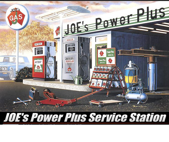 Maquette Academy 15122 Station service JOE's Power Station