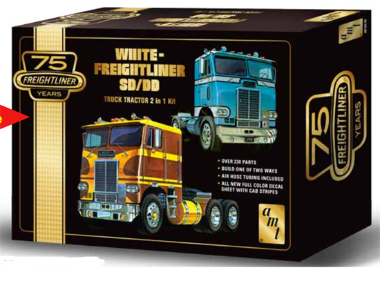 Maquette AMT 1046 White Freightliner 2-in-1 1/25