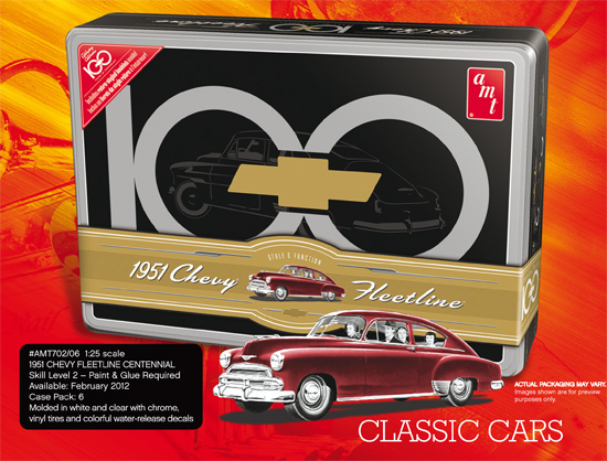 Maquette AMT 702 Chevy Fleetline Anni. TIN 1/25