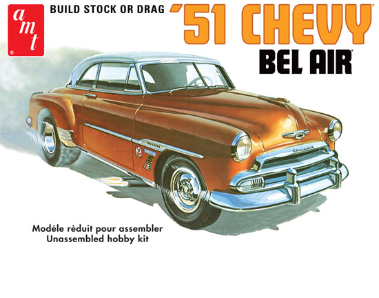 Maquette AMT 862 Chevy Bel Air 1951 1/25