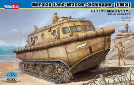 Maquette Hobbyboss 82430 German LWS amphibious tractor Early production