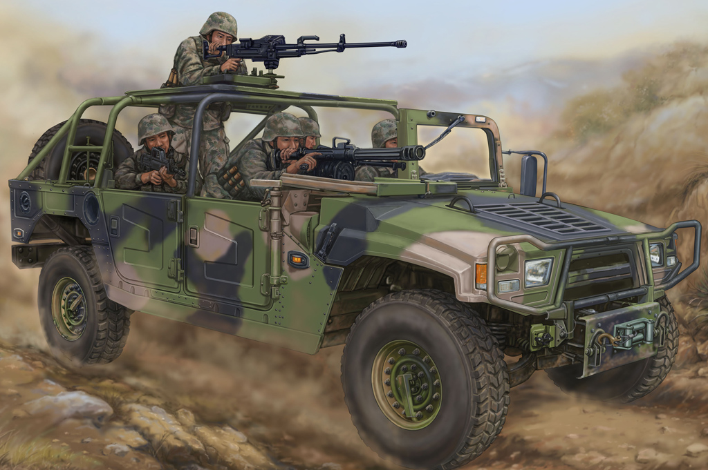 Maquette Hobbyboss 82469 Meng Shi1.5tonMilitaryLightUtilityVehicle-Convertible Version for Special Forces