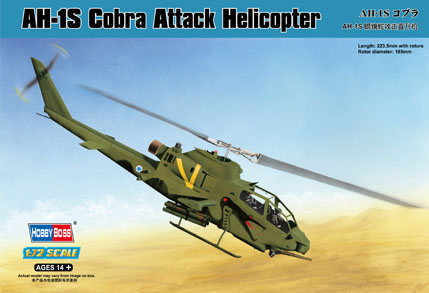 Maquette Hobbyboss 87225 AH-1S Cobra Attack Helicopter