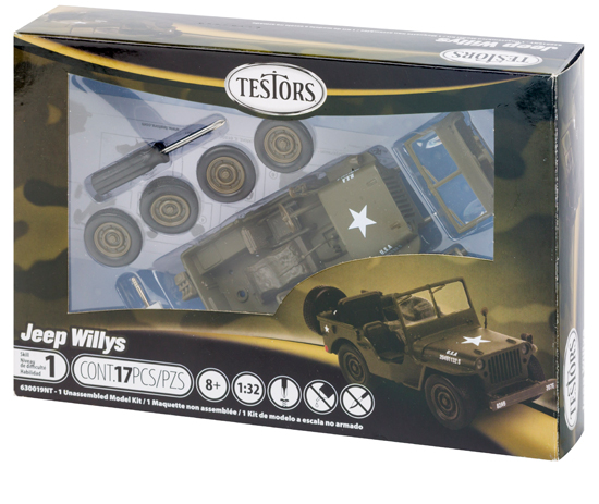 Maquette Testors 630019 jeep willys 1/32