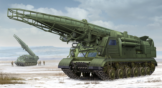 Maquette Trumpeter 01024 Ex-Soviet 2P19 Launcher w/R-17 Missile(SS-1C SCUD B)of 8K14 Missile System