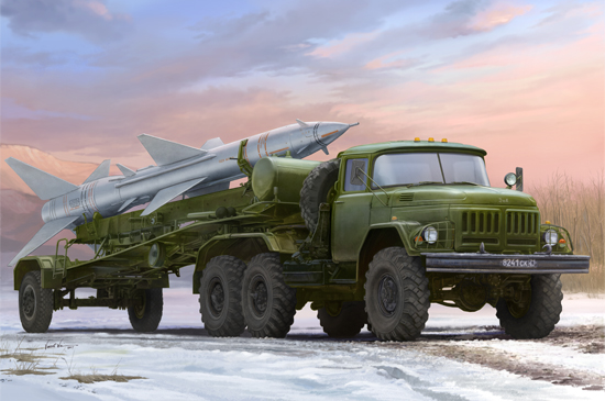 Maquette Trumpeter 01033 Russian Zil-131V towed PR-11 SA-2 Guideline