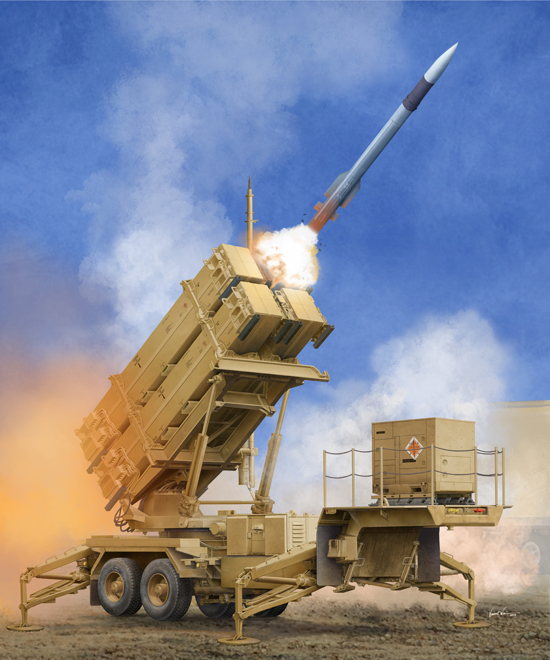 Maquette Trumpeter 01040 US M901 Launching Station w/MIM-104F Patriot SAM System (PAC-3)