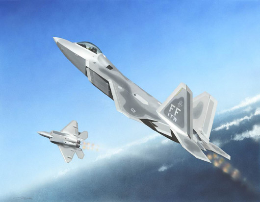 Maquette Trumpeter 01317 F-22A Raptor