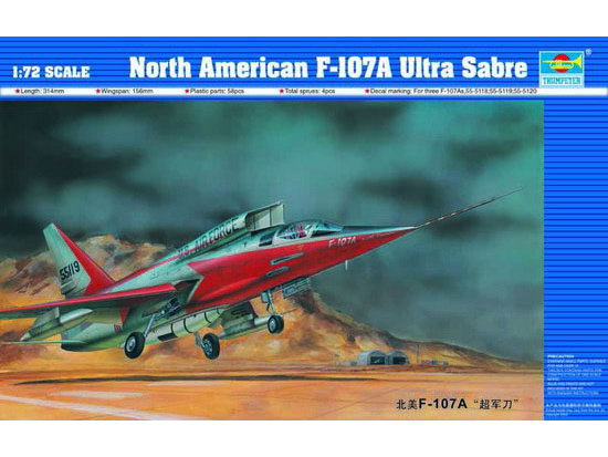 Maquette Trumpeter 01605 North American F-107A Ultra Sabre