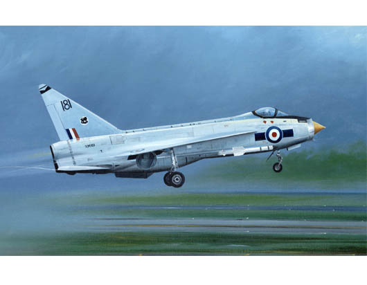 Maquette Trumpeter 01634 English Electric (BAC) Lightning F.1A/F.2