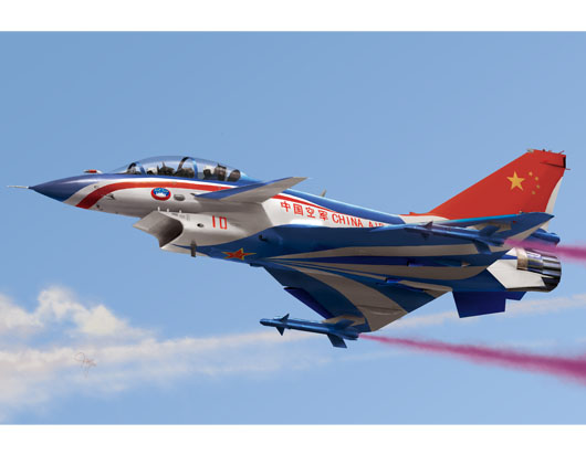 Maquette Trumpeter 01644 Chinese J-10S fighter