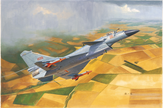 Maquette Trumpeter 01651 Chinese J-10B Fighter