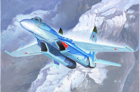 Maquette Trumpeter 01660 Russian Su-27 Flanker B Fighter