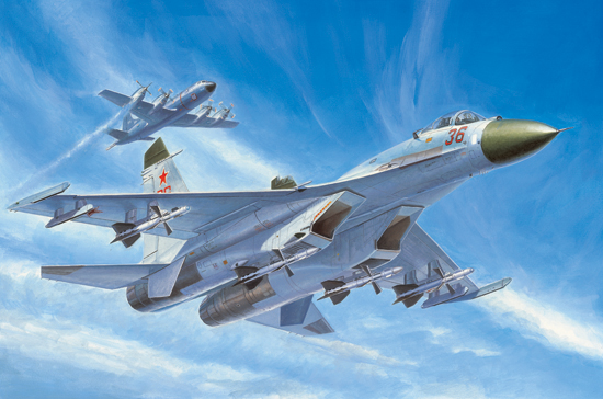 Maquette Trumpeter 01661 Russian Su-27 Early type Fighter