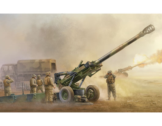 Maquette Trumpeter 02319 M198 Medium Towed Howitzer late