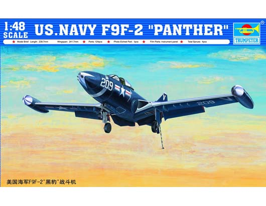 "Maquette Trumpeter 02832 US.NAVY F9F-2 ""PANTHER"""