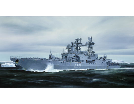 Maquette Trumpeter 04531 Russian Udaloy II class destroyer Admiral Chabanenko