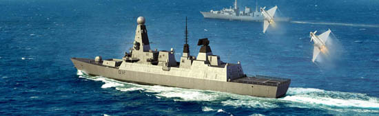 Maquette Trumpeter 04550 HMS Type 45 Destroyer