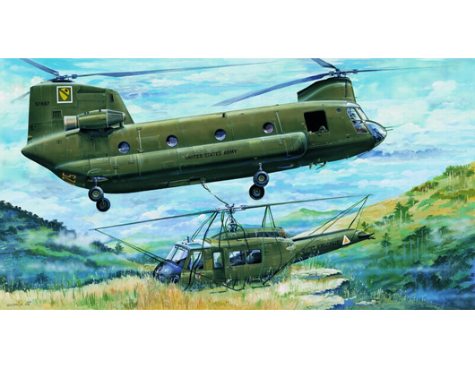 "Maquette Trumpeter 05104 CH-47A ""CHINOOK"""