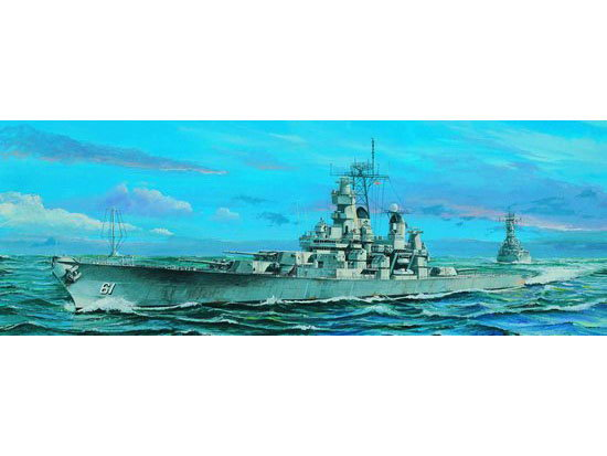 Maquette Trumpeter 05701 US Battleship BB-61 Iowa 1984