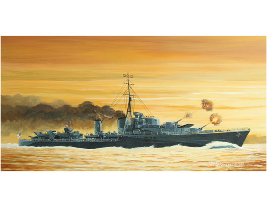 Maquette Trumpeter 05757 Tribal-class destroyer HMS Eskimo (F75)1941