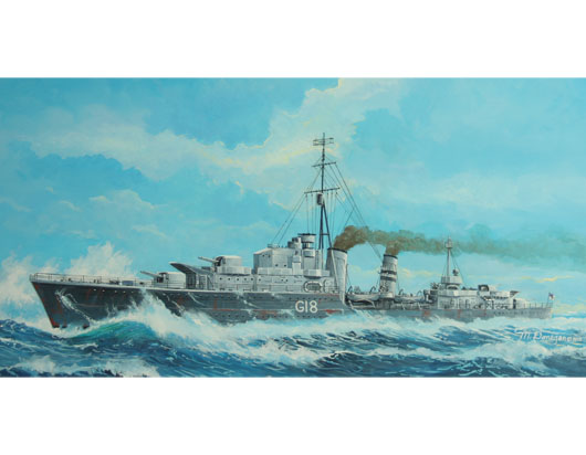 Maquette Trumpeter 05758 Tribal-class destroyer HMS Zulu (F18)1941