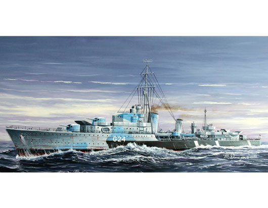 Maquette Trumpeter 05759 Tribal-class destroyer HMCS Huron (G24)1944