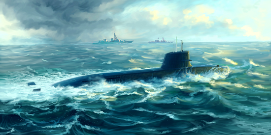 Maquette Trumpeter 05911 Japanese Soryu Class Attack Submarine