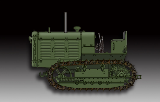 Maquette Trumpeter 07112 Russian ChTZ S-65 Tractor