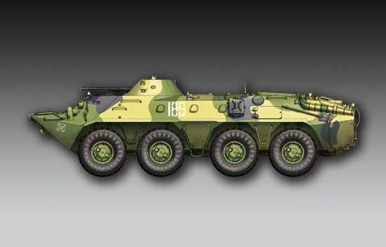Maquette Trumpeter 07138 Russian BTR-70 APC late version