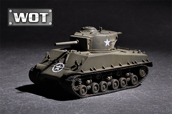 Maquette Trumpeter 07168 US M4A3E8 with 105mm M4