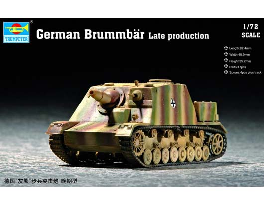 Maquette Trumpeter 07212 German  Brummb?r Late production